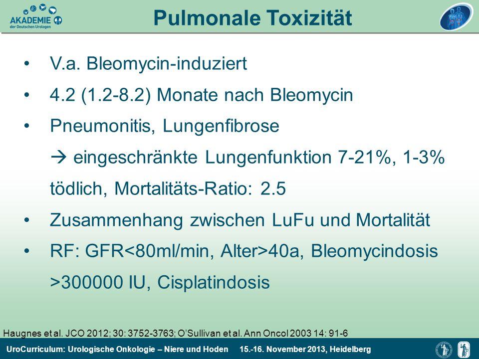 Pulmonale Toxizität V.a. Bleomycin-induziert