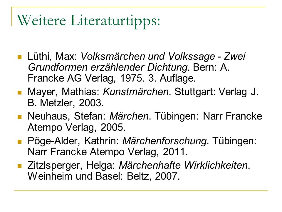 Weitere Literaturtipps:
