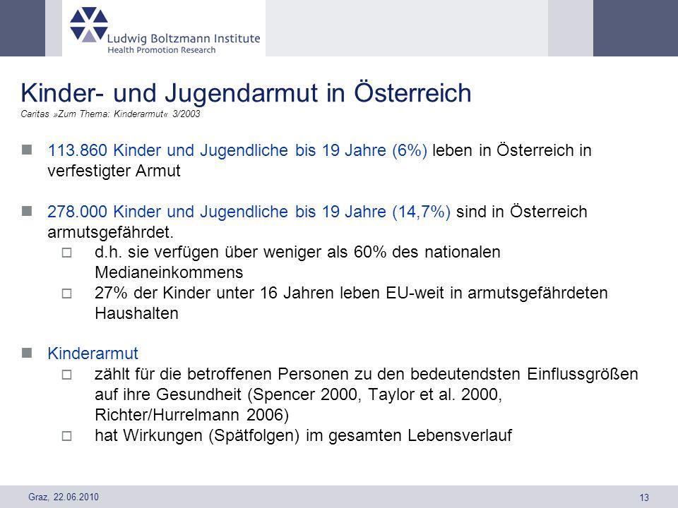 Kinder- und Jugendarmut in Österreich Caritas »Zum Thema: Kinderarmut« 3/2003