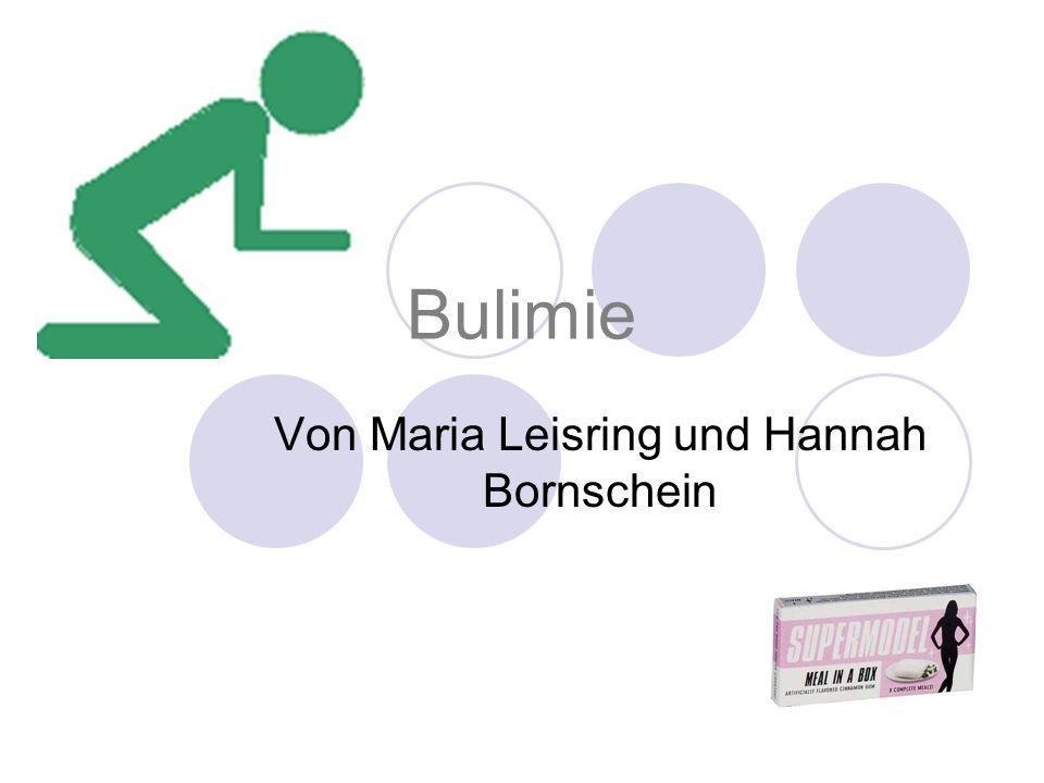 Von Maria Leisring und Hannah Bornschein