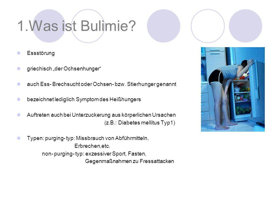 """1.Was ist Bulimie Essstörung griechisch """"der Ochsenhunger"""