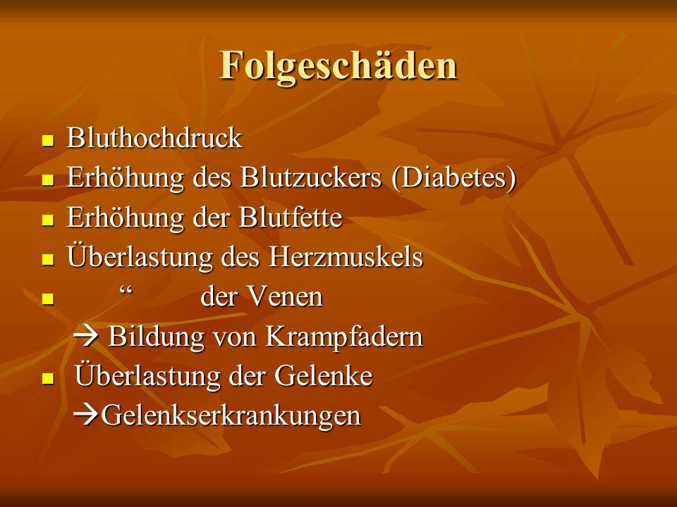 Folgeschäden Bluthochdruck Erhöhung des Blutzuckers (Diabetes)