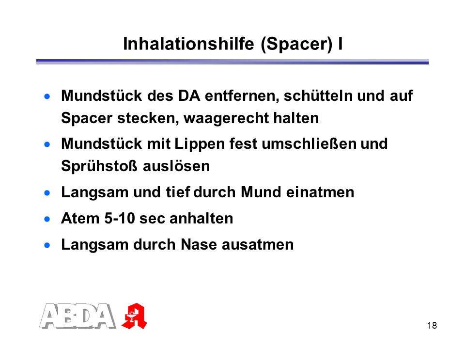Inhalationshilfe (Spacer) I