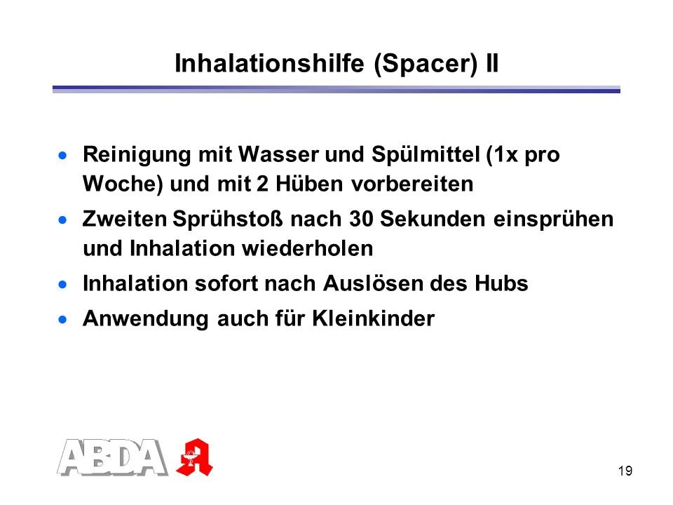 Inhalationshilfe (Spacer) II