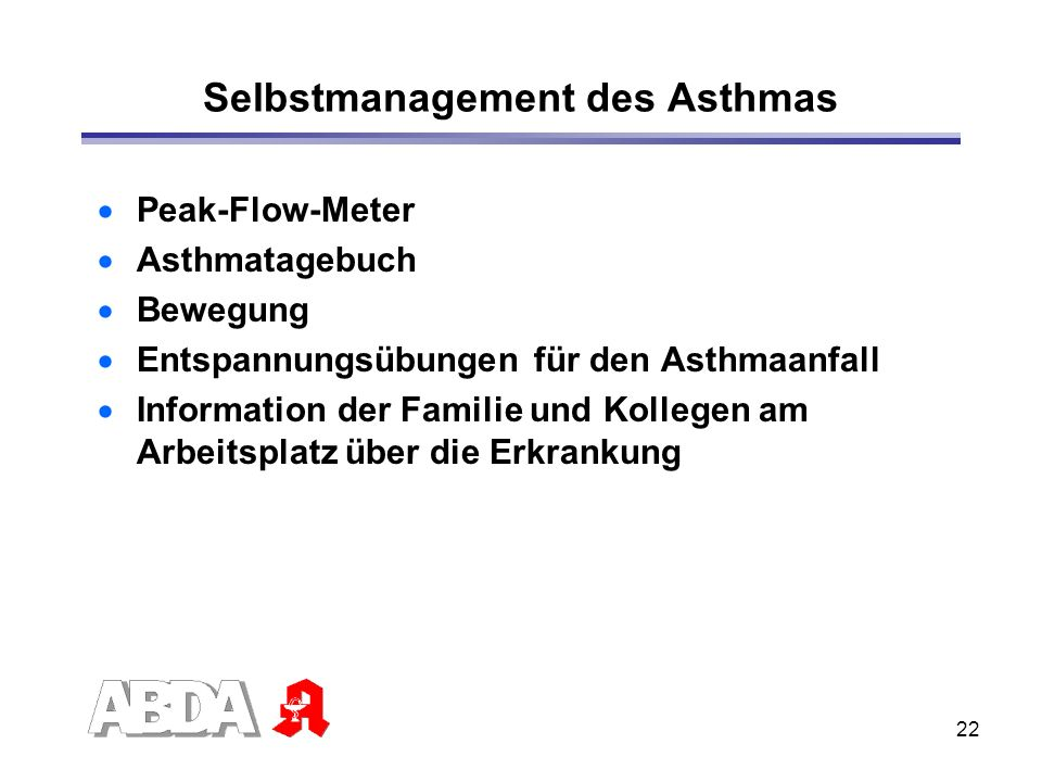 Selbstmanagement des Asthmas