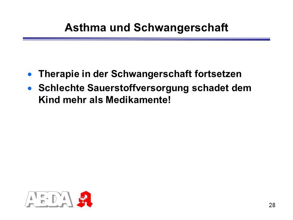 Asthma und Schwangerschaft