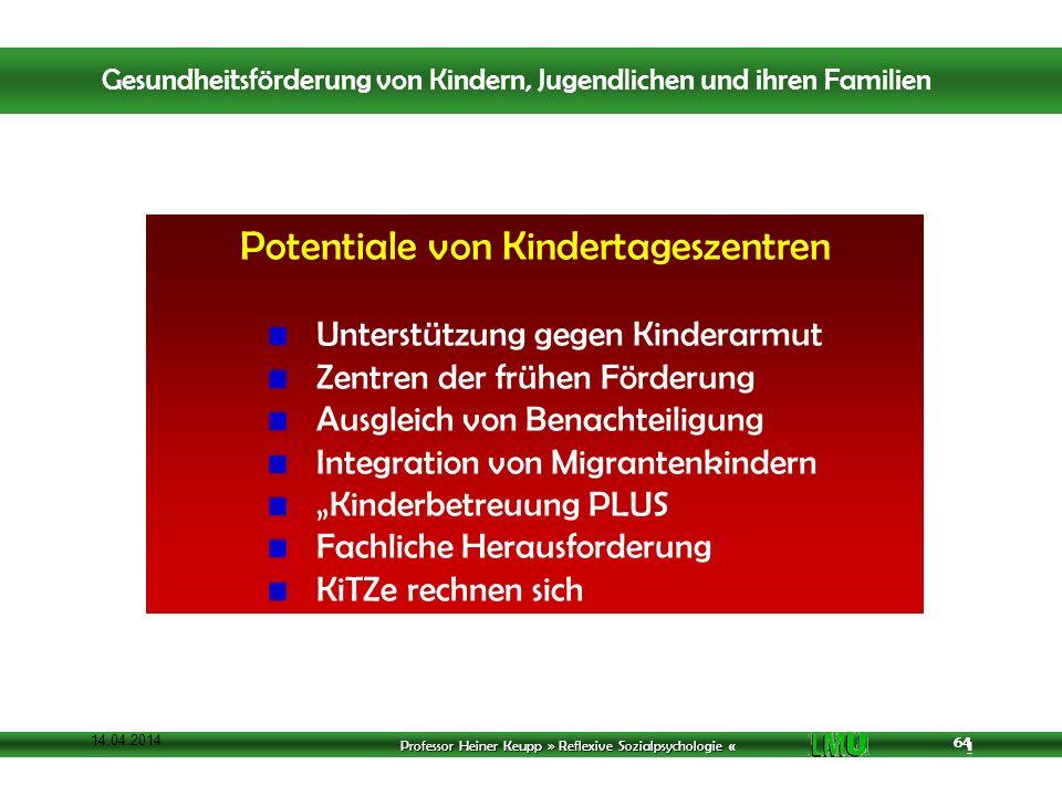 Potentiale von Kindertageszentren