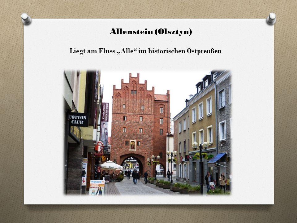 """Allenstein (Olsztyn) Liegt am Fluss """"Alle im historischen Ostpreußen"""