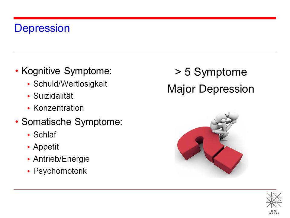 > 5 Symptome Major Depression