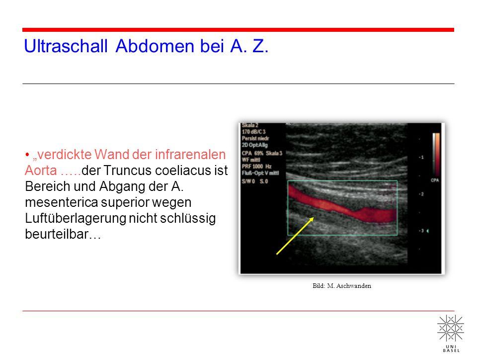 Ultraschall Abdomen bei A. Z.