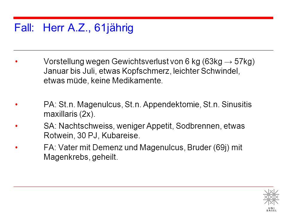 Fall: Herr A.Z., 61jährig
