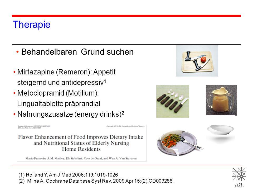 Therapie Behandelbaren Grund suchen Mirtazapine (Remeron): Appetit