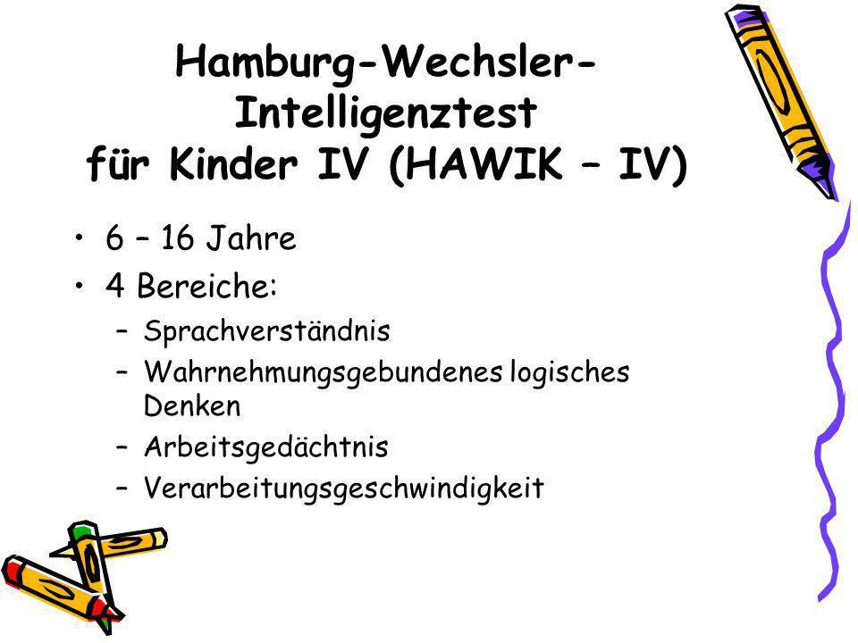 Hamburg-Wechsler- Intelligenztest für Kinder IV (HAWIK – IV)