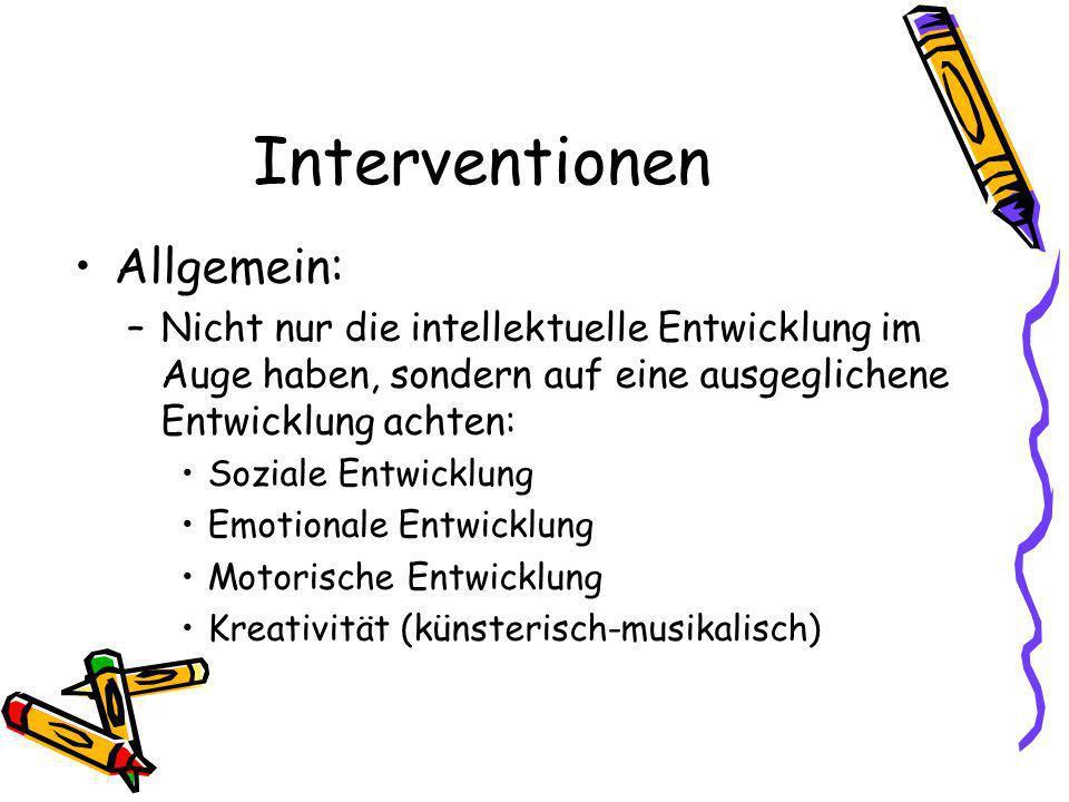 Interventionen Allgemein: