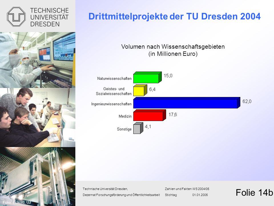 Drittmittelprojekte der TU Dresden 2004