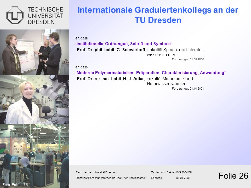 Internationale Graduiertenkollegs an der TU Dresden