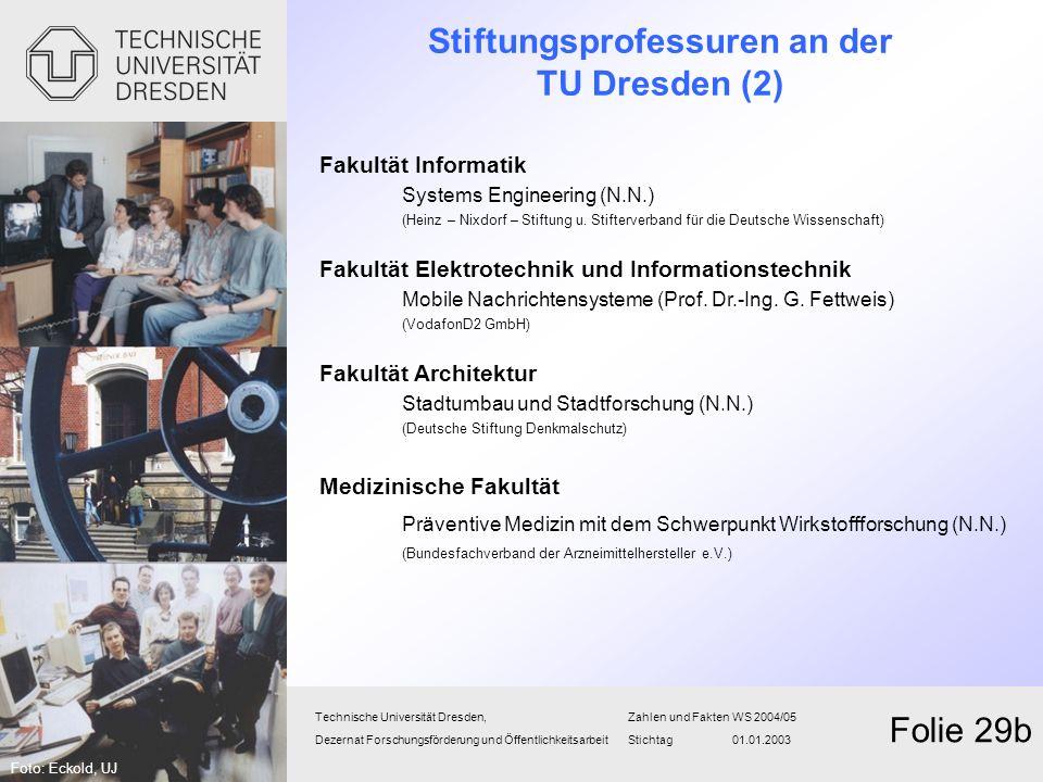 Stiftungsprofessuren an der TU Dresden (2)