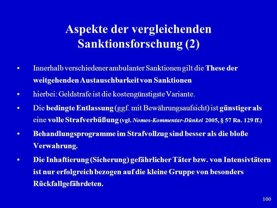 Aspekte der vergleichenden Sanktionsforschung (2)