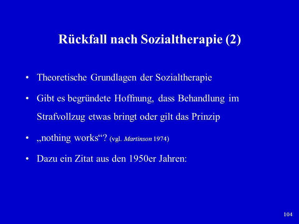 Rückfall nach Sozialtherapie (2)