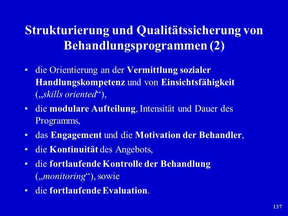 Strukturierung und Qualitätssicherung von Behandlungsprogrammen (2)