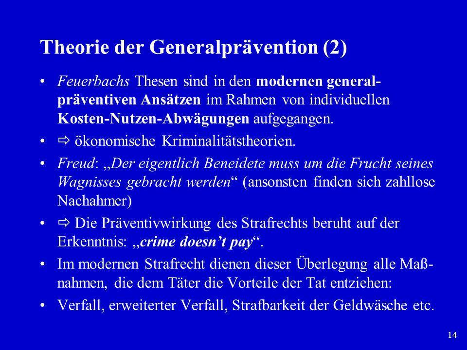 Theorie der Generalprävention (2)