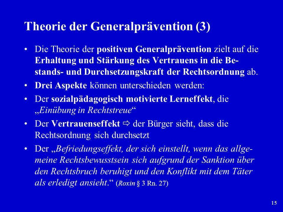 Theorie der Generalprävention (3)
