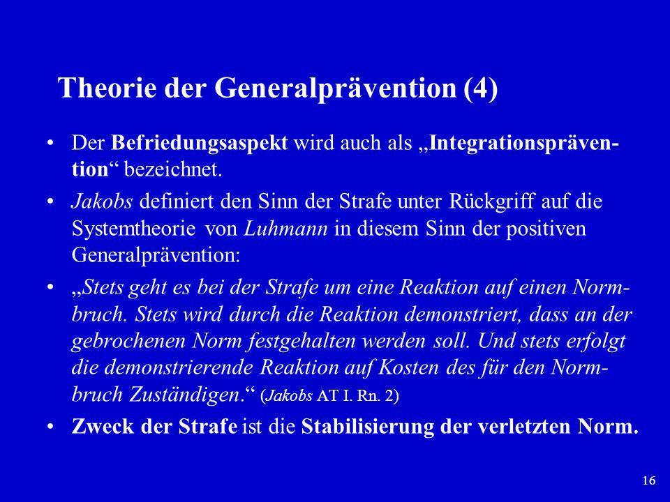 Theorie der Generalprävention (4)