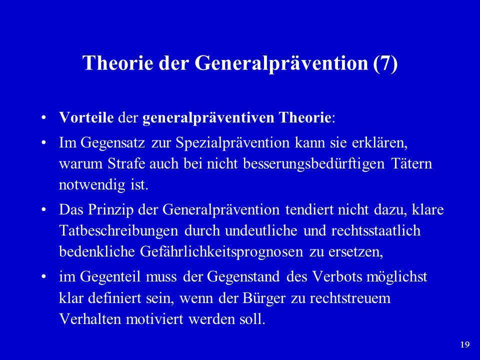 Theorie der Generalprävention (7)