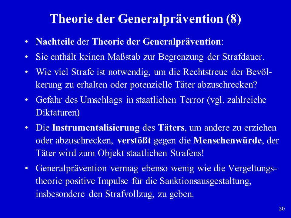 Theorie der Generalprävention (8)