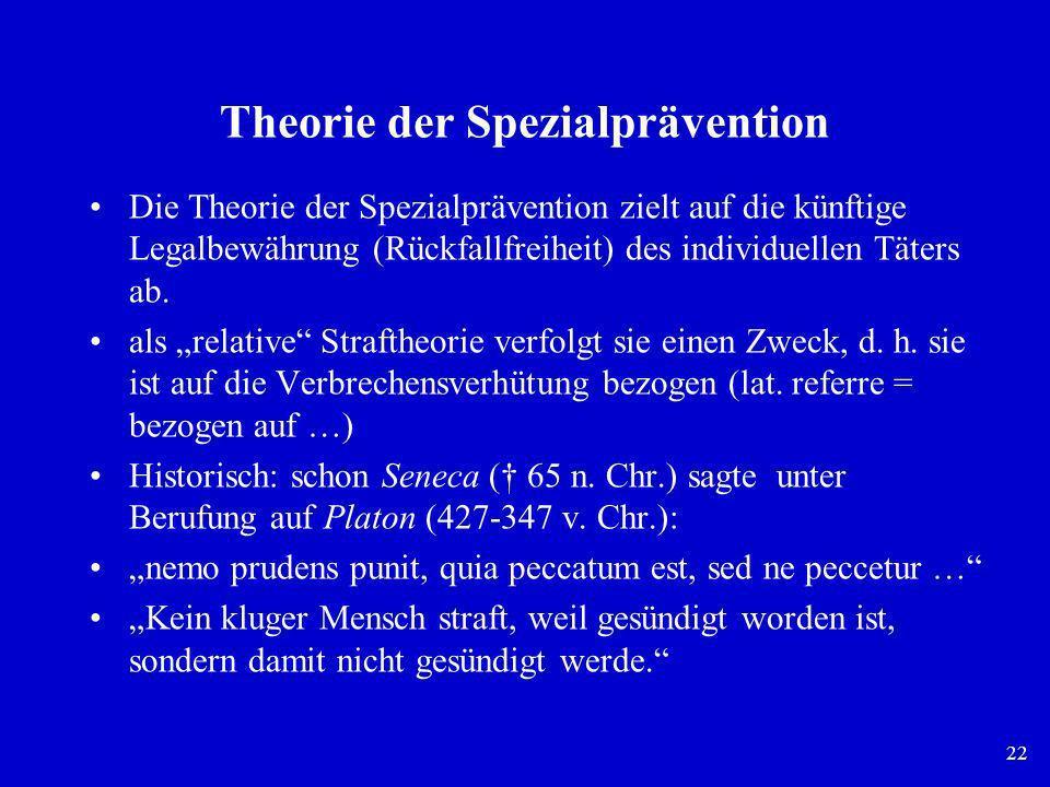 Theorie der Spezialprävention