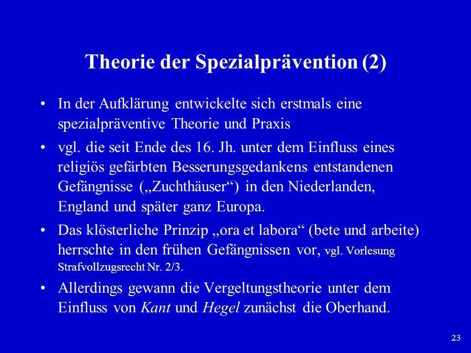 Theorie der Spezialprävention (2)