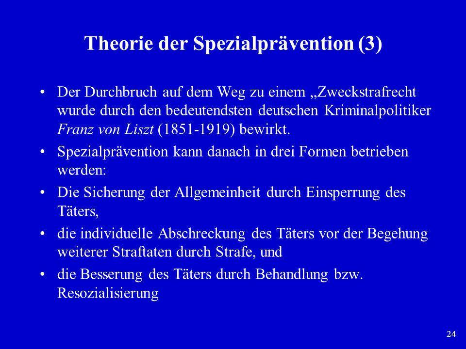 Theorie der Spezialprävention (3)
