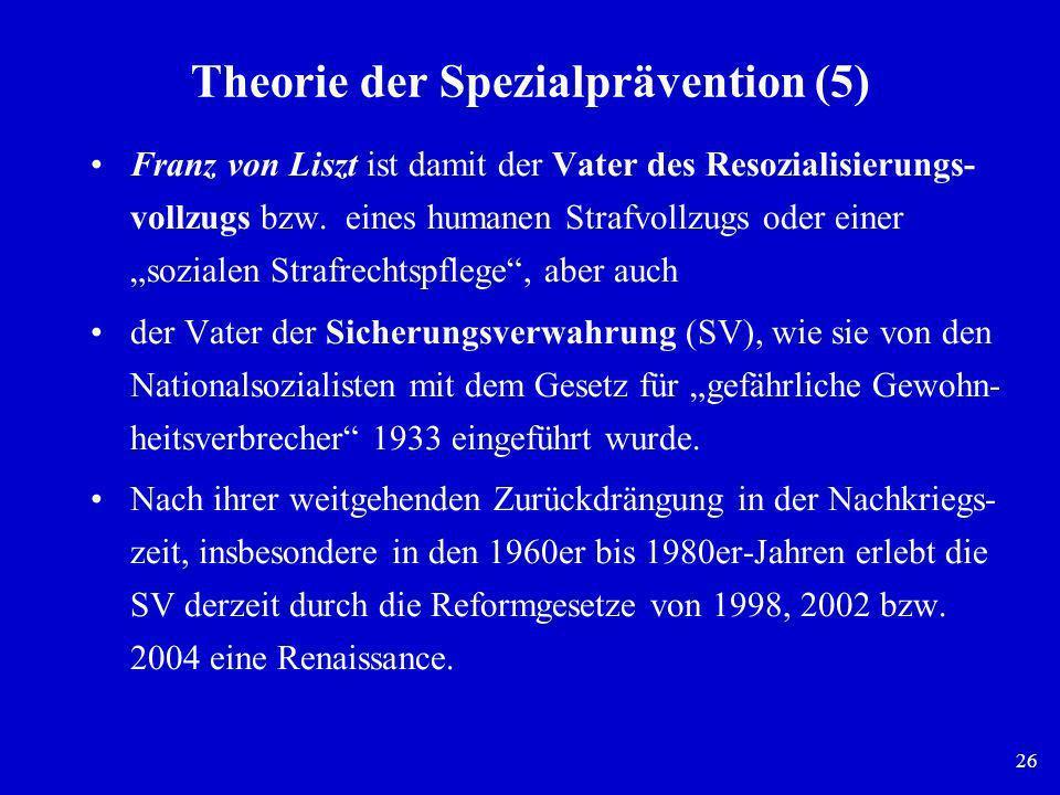 Theorie der Spezialprävention (5)