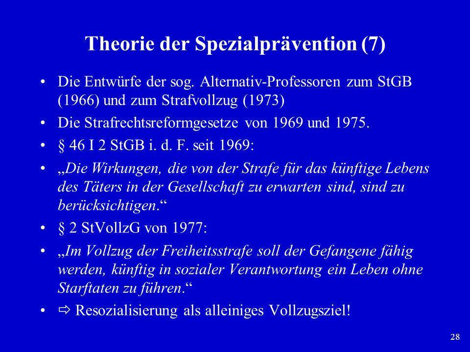 Theorie der Spezialprävention (7)