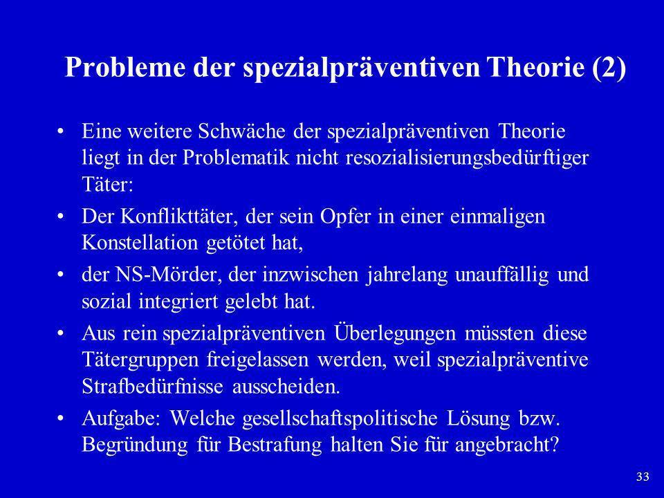 Probleme der spezialpräventiven Theorie (2)