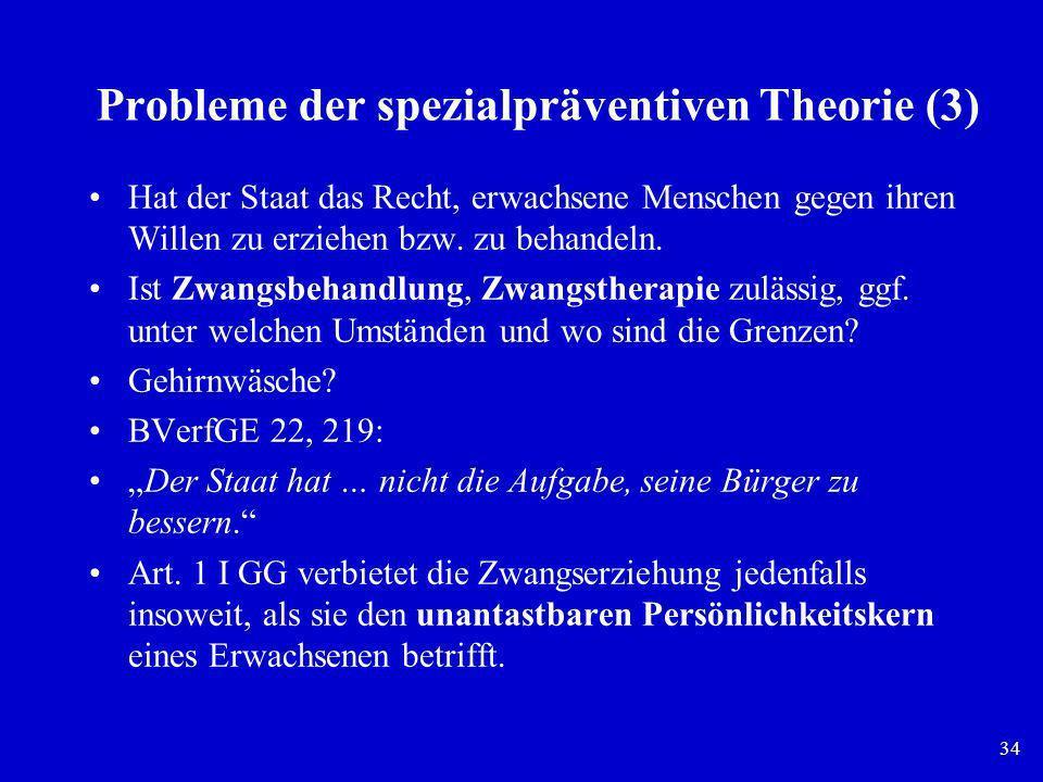 Probleme der spezialpräventiven Theorie (3)