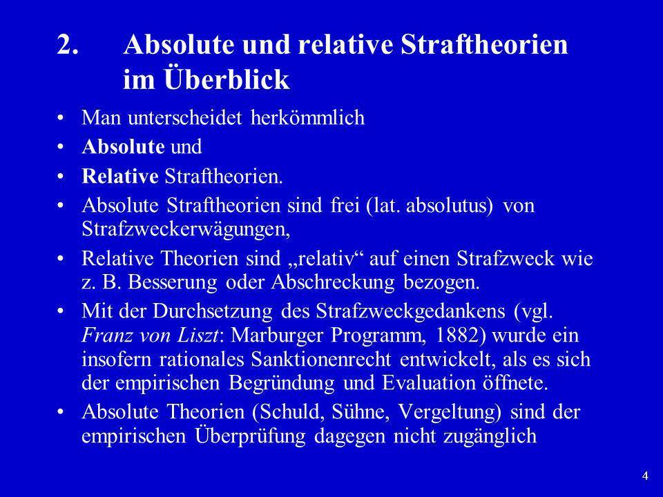 2. Absolute und relative Straftheorien im Überblick
