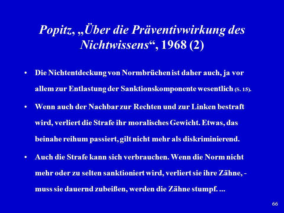 """Popitz, """"Über die Präventivwirkung des Nichtwissens , 1968 (2)"""