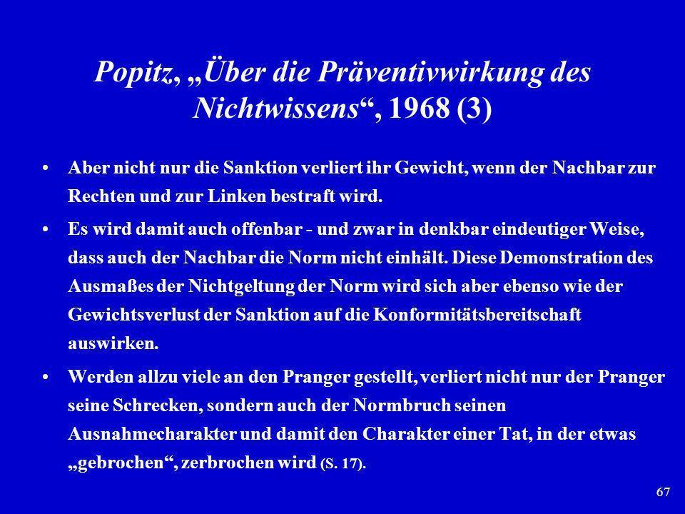 """Popitz, """"Über die Präventivwirkung des Nichtwissens , 1968 (3)"""