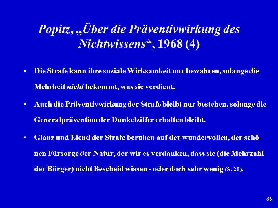 """Popitz, """"Über die Präventivwirkung des Nichtwissens , 1968 (4)"""