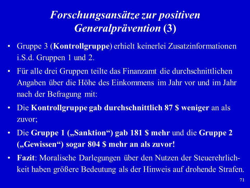 Forschungsansätze zur positiven Generalprävention (3)