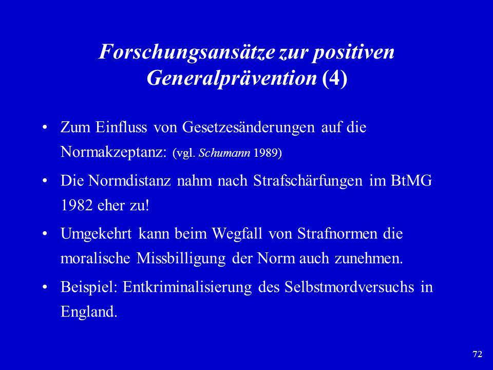 Forschungsansätze zur positiven Generalprävention (4)