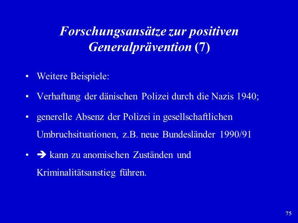 Forschungsansätze zur positiven Generalprävention (7)