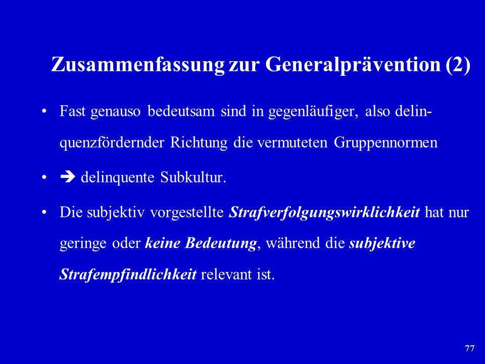 Zusammenfassung zur Generalprävention (2)