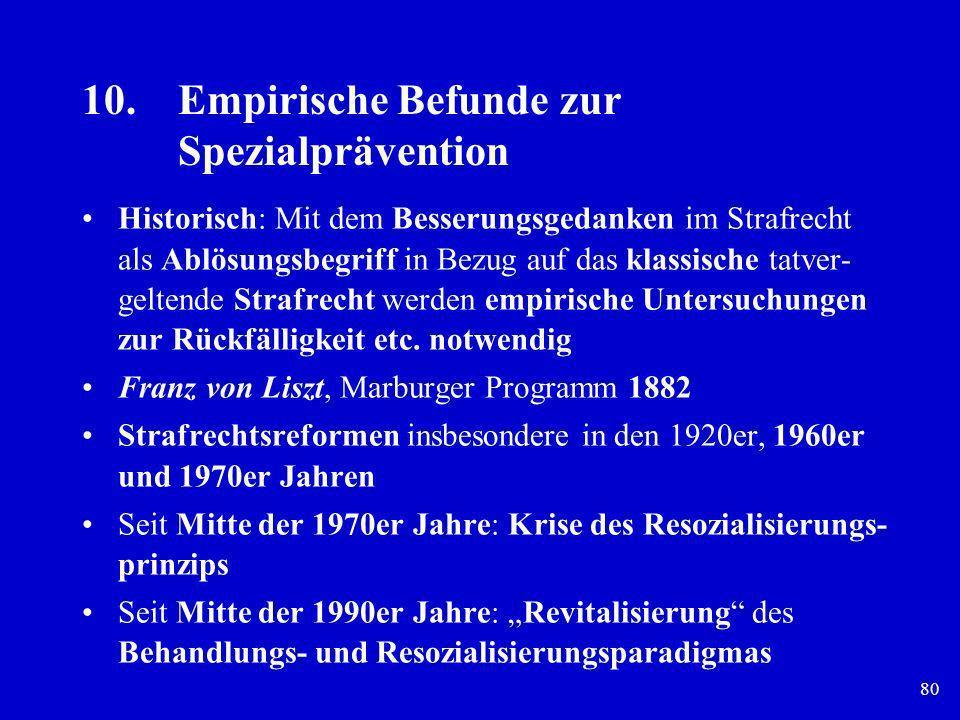 10. Empirische Befunde zur Spezialprävention