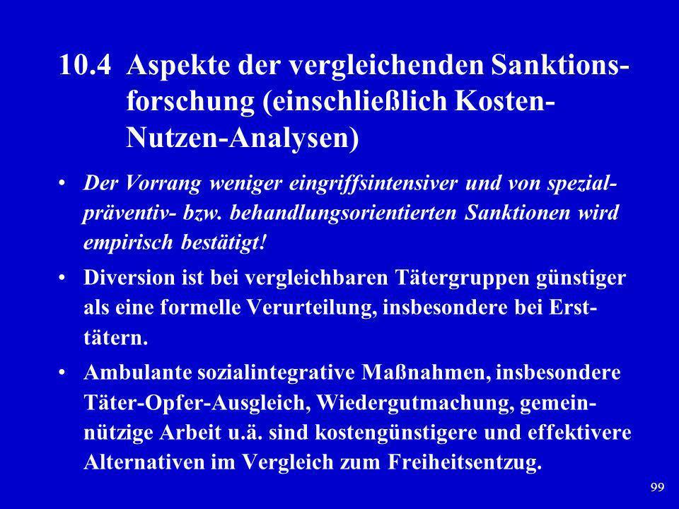 10. 4. Aspekte der vergleichenden Sanktions-