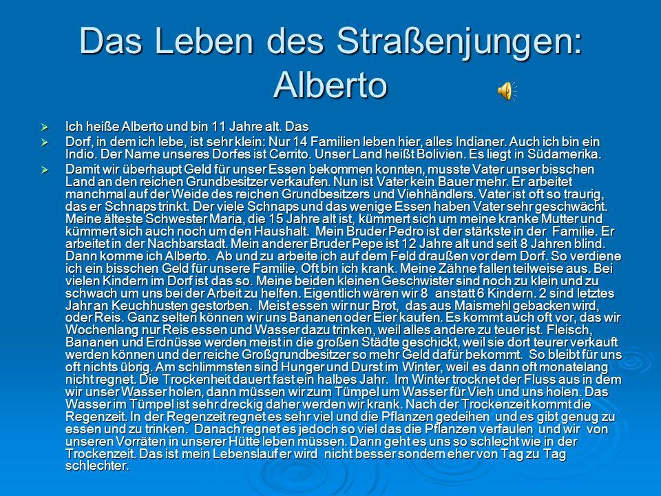 Das Leben des Straßenjungen: Alberto