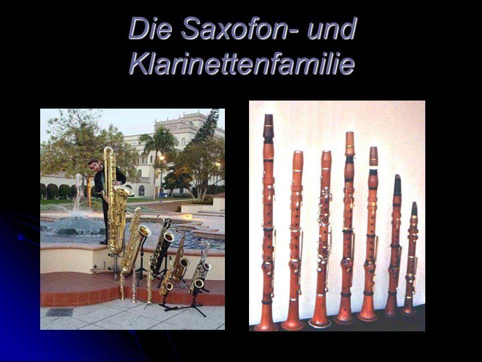 Die Saxofon- und Klarinettenfamilie