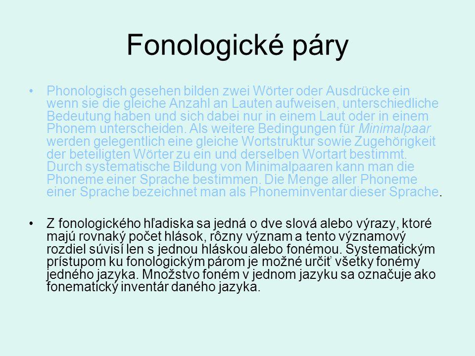 Fonologické páry