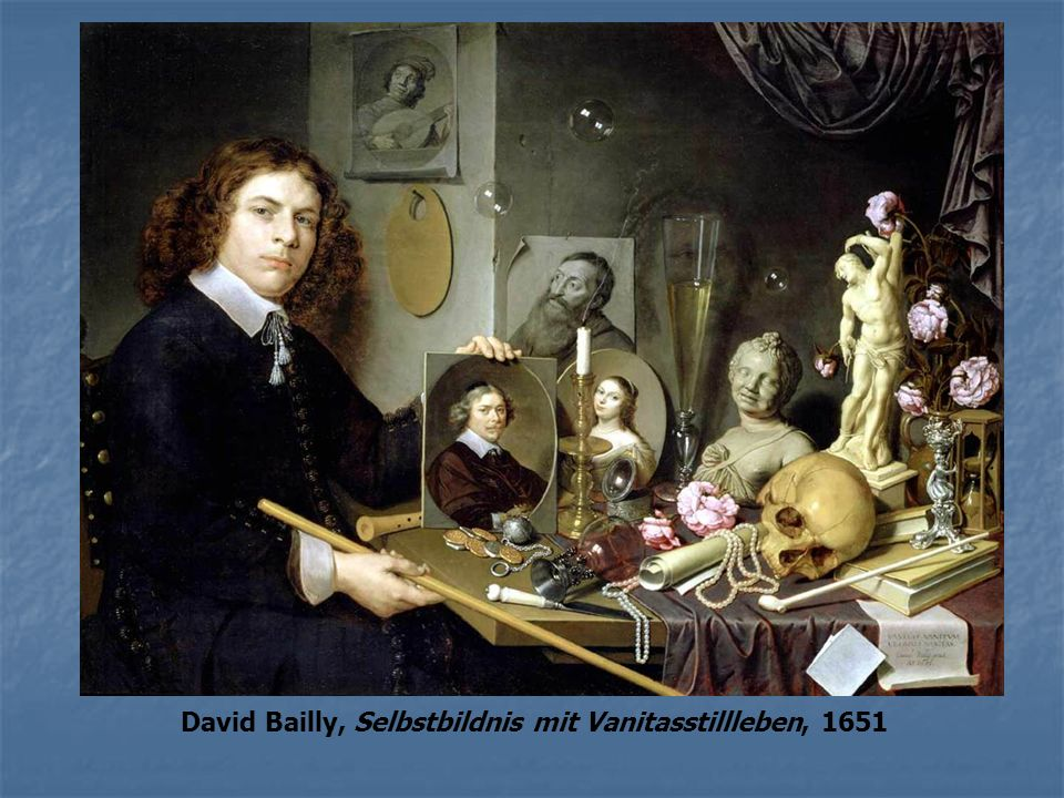 David Bailly, Selbstbildnis mit Vanitasstillleben, 1651